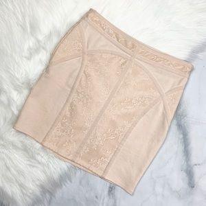 Free People lace panel bodycon mini skirt